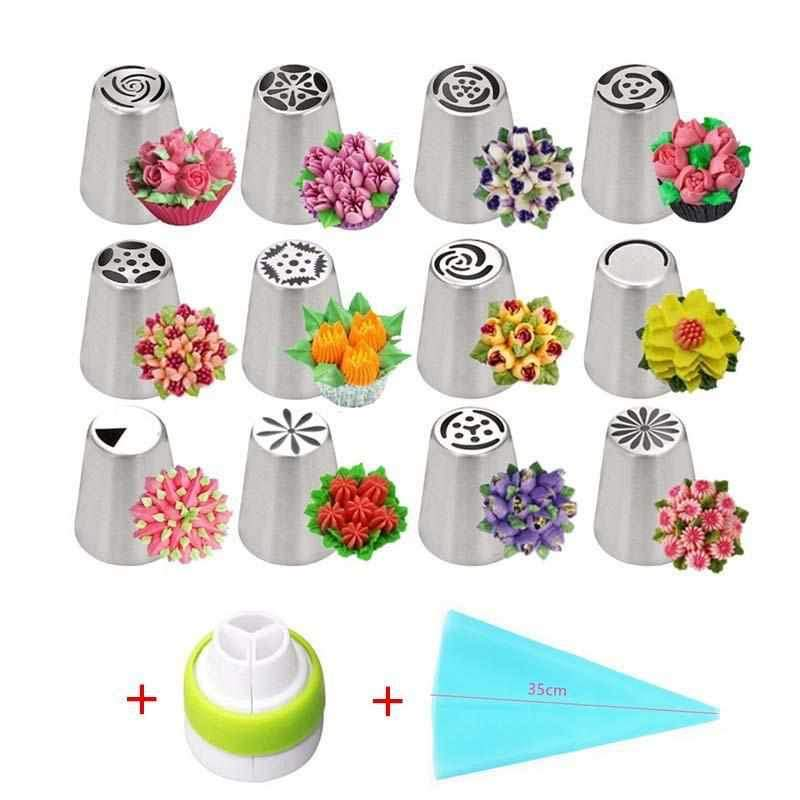 Russia Pastry Sugar Crafts Cream Nozzles-14pcs set-CulGadgets