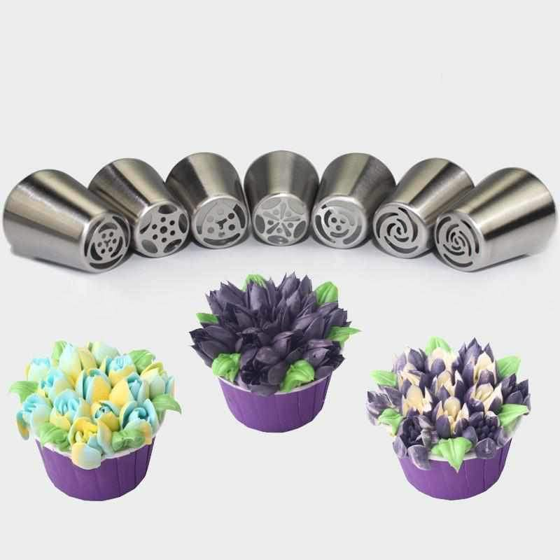 Russia Pastry Sugar Crafts Cream Nozzles-7pcs set-CulGadgets