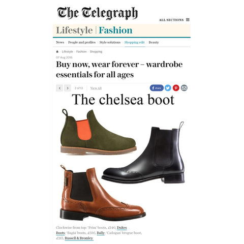 Dukes Boots featured in The Telegraph
