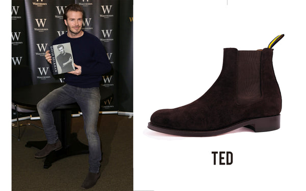 spotted david beckham chelsea boots dukes boots