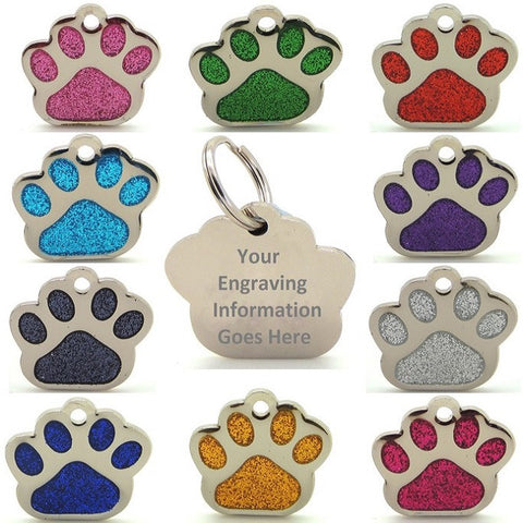 Copy of Reflective Glitter Dog Paw Shaped Design 35mm EXTRA LARGE
