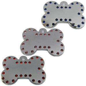 39mm Chrome Plated, Crystalized Bone Tags