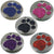 With Tab Pet ID Tags Engraved Dog Discs Designer Paw Insert With Silver Round Tag 25mm