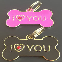 Copy of 35mm I Love You Crystal Bones-Designer Tags