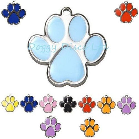 New Four Paw Shape 23mm Pet Id Tag