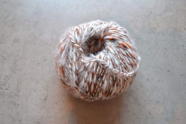 G&M Alpaca & Merino blend ALPACA & WOOL TWIST BEIGE / ORANGE