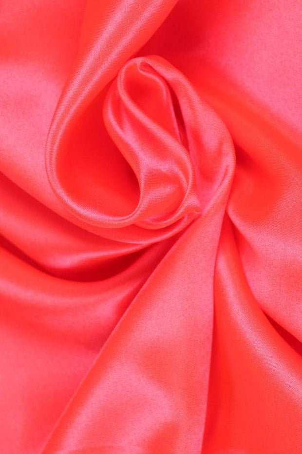 G&M Satin SATIN NEON ORANGE-PINK (MIN. 3 M.)