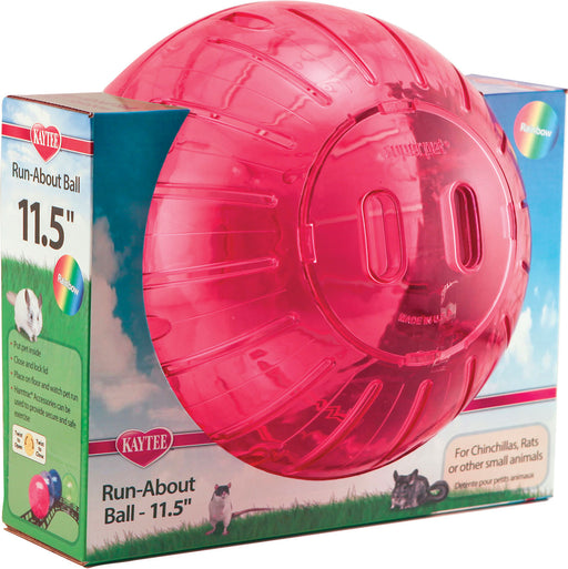 Super Pet- Container - Run-about Ball - Rainbow - J. Rose Global