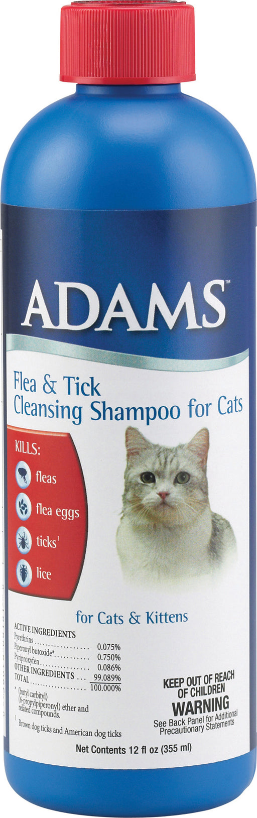 Farnam Pet - Adams Flea & Tick Cleansing Shampoo For Cats - J. Rose Global