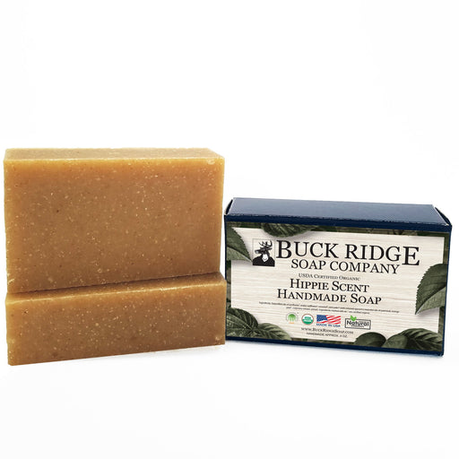 Hippie Scent Men's Handmade Soap - USDA Certified Organic - J. Rose Global