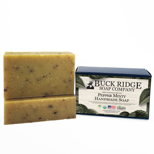 Pepper Minty Handmade Soap - USDA Certified Organic - J. Rose Global