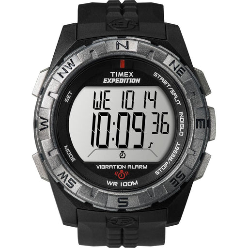 Timex Expedition Vibrate Alert Watch - Full Size - Black - J. Rose Global
