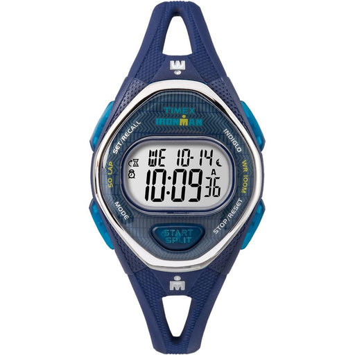 Timex IRONMAN® Sleek 50 Mid-Size Silicone Watch - Navy - J. Rose Global
