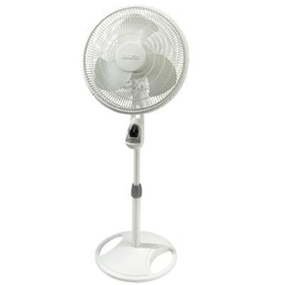 "16"" Oscillating Stand Fan Wht - J. Rose Global"