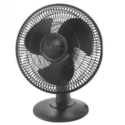 "12"" Table Fan 3 Speed Black - J. Rose Global"