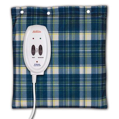 Sunbeam Heating Pad Blue Plaid - J. Rose Global