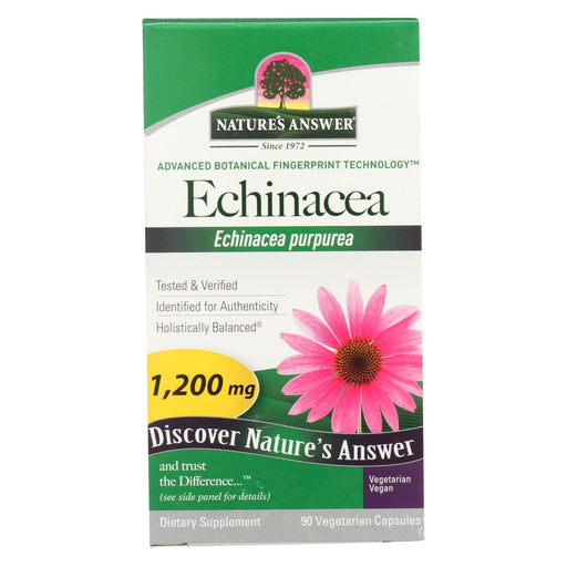 Nature's Answer - Echinacea Herb - 90 Vcaps - J. Rose Global
