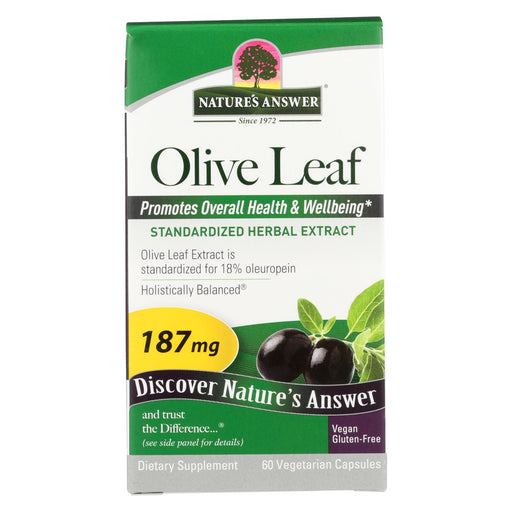 Nature's Answer - Oleopein Olive Leaf Extract - 60 Vegetarian Capsules - J. Rose Global