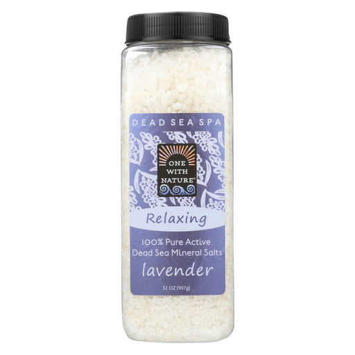 One With Nature Bath Salts - Dead Sea Mineral - Lavender Tangerine - 32 Oz - J. Rose Global