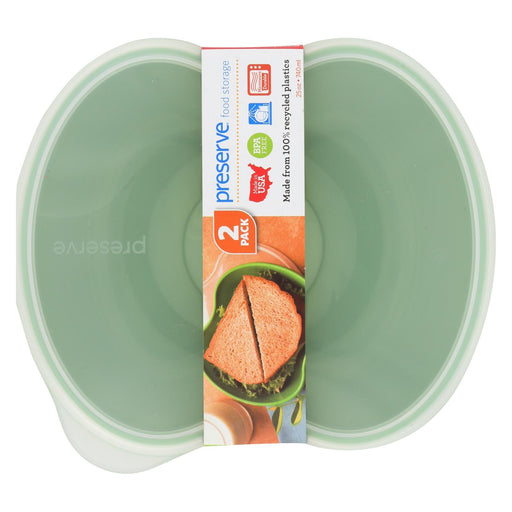 Preserve Square Food Storage Set - Green - Case Of 8 - 2 Packs - J. Rose Global