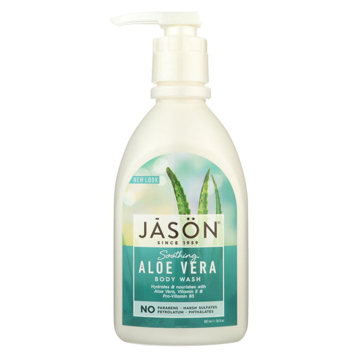 Jason Body Wash Pure Natural Soothing Aloe Vera - 30 Fl Oz - J. Rose Global