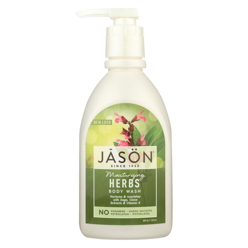 Jason Pure Natural Body Wash Moisturizing Herbs - 30 Fl Oz - J. Rose Global