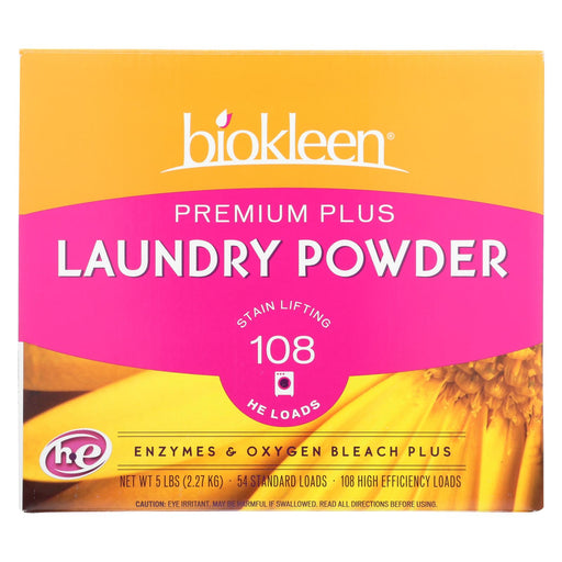 Biokleen Laundry Powder Premium Plus Stain Lifting Enzyme Formula - 5 Lbs - Handley Global Group, LLC
