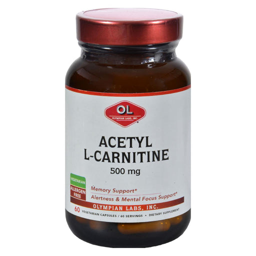 Olympian Labs Acetyl L-carnitine - 500 Mg - 60 Vegetarian Capsules - J. Rose Global