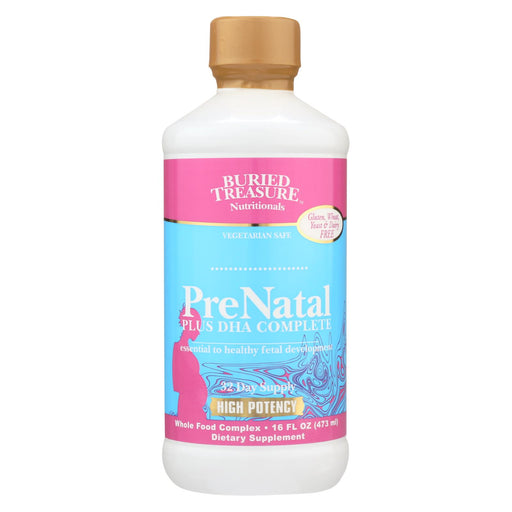 Buried Treasure - Prenatal Plus Dha Complete - 16 Fl Oz - J. Rose Global
