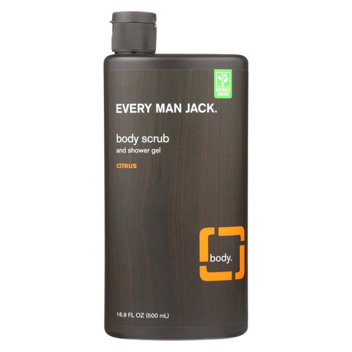 Every Man Jack Citrus Body Scrub - 16.9 Fl Oz - J. Rose Global