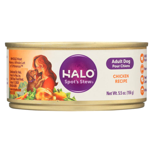 Halo Purely For Pets Dog Food - Spots Stew - Wholesome Chicken - 5.5 Oz - Case Of 12 - J. Rose Global