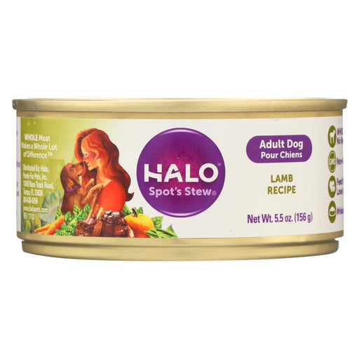 Halo Purely For Pets Dog Food - Spots Stew - Wholesome Lamb - 5.5 Oz - Case Of 12 - J. Rose Global
