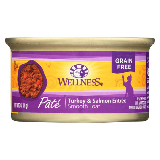 Wellness Pet Products Cat Food - Turkey And Salmon Recipe - Case Of 24 - 3 Oz. - J. Rose Global