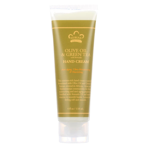 Nubian Heritage Hand Cream Olive And Green Tea - 4 Oz - J. Rose Global