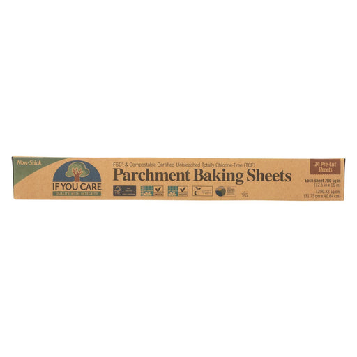 If You Care Parchment Baking Sheet - Paper - Case Of 12 - 24 Count - J. Rose Global