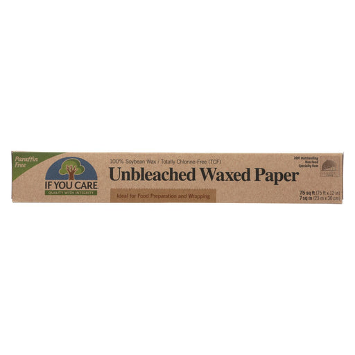 If You Care Waxed Paper - Natural - Case Of 12 - 75 Sq. Ft. - J. Rose Global