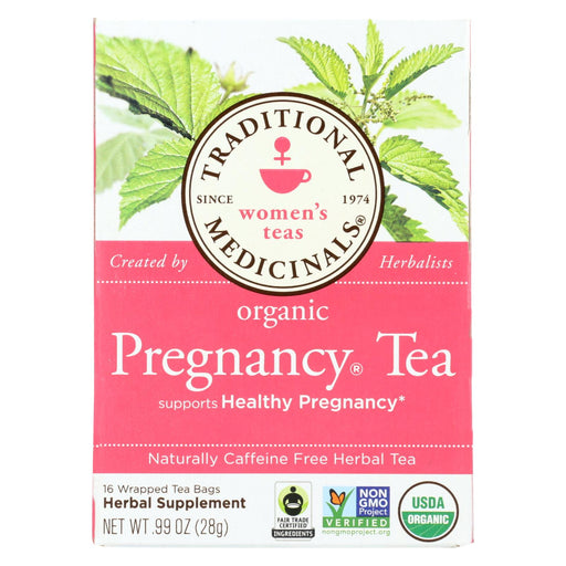 Traditional Medicinals Organic Pregnancy Herbal Tea - 16 Tea Bags - Case Of 6 - J. Rose Global
