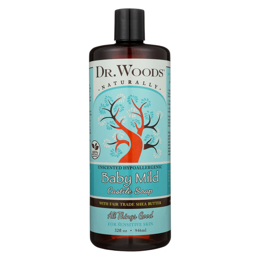Dr. Woods Shea Vision Pure Castile Soap Baby Mild With Organic Shea Butter - 32 Fl Oz - J. Rose Global