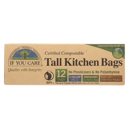 If You Care Trash Bags - Certified Compostable - Case Of 12 - 12 Count - J. Rose Global