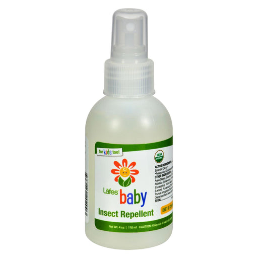 Lafe's Natural And Organic Baby Insect Repellent - 4 Fl Oz - J. Rose Global