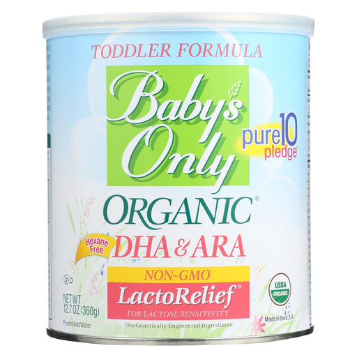 Babys Only Organic Toddler Formula - Organic - Lactorelief - Lactose Free - 12.7 Oz - Case Of 6 - J. Rose Global