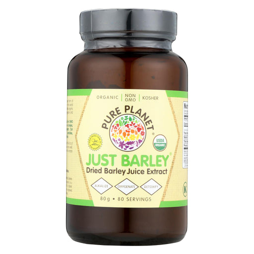 Pure Planet Just Barley Nature's Organic Nutrition Support - 2.8 Oz - J. Rose Global