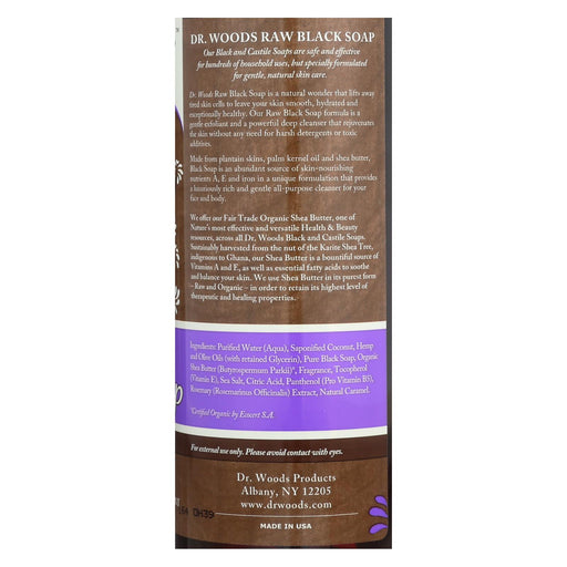 Dr. Woods Shea Vision Pure Black Soap With Organic Shea Butter - 16 Fl Oz - J. Rose Global