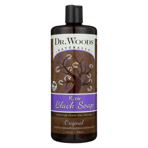 Dr. Woods Shea Vision Pure Black Soap With Organic Shea Butter - 32 Fl Oz - J. Rose Global