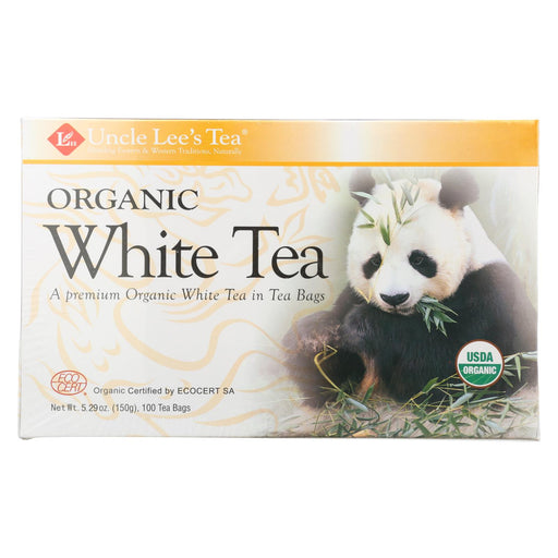 Uncle Lee's Legends Of China Organic White Tea - 100 Tea Bags - J. Rose Global