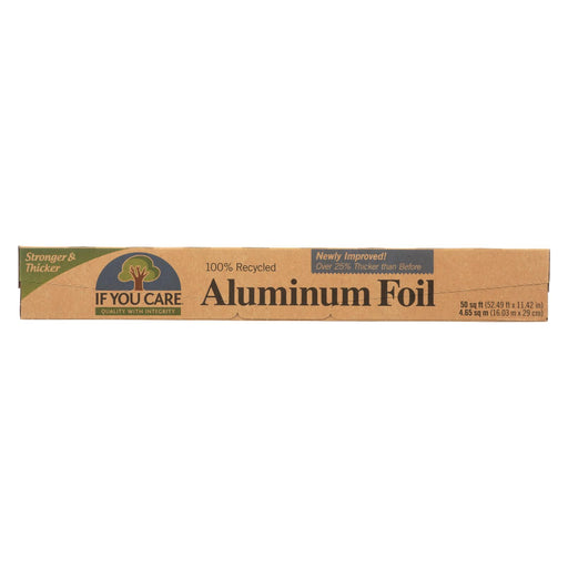 If You Care Aluminum Foil - Recycled - Case Of 12 - 50 Sq. Ft. - J. Rose Global