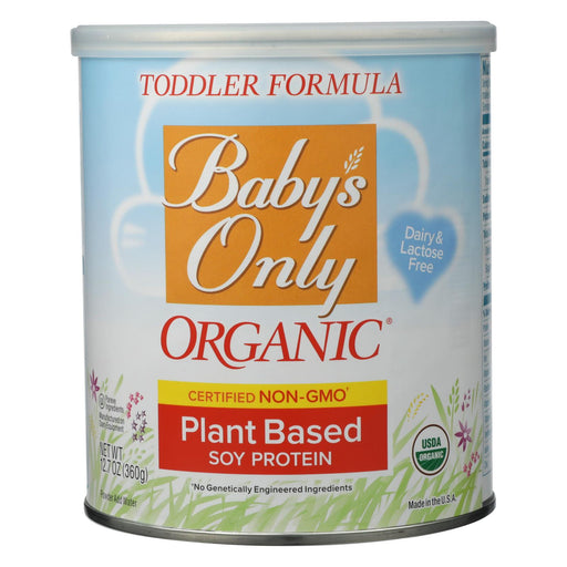 Baby's Only Organic Soy Iron Fortified Toddler Formula - Soy Formula - Case Of 6 - 12.7 Oz. - J. Rose Global