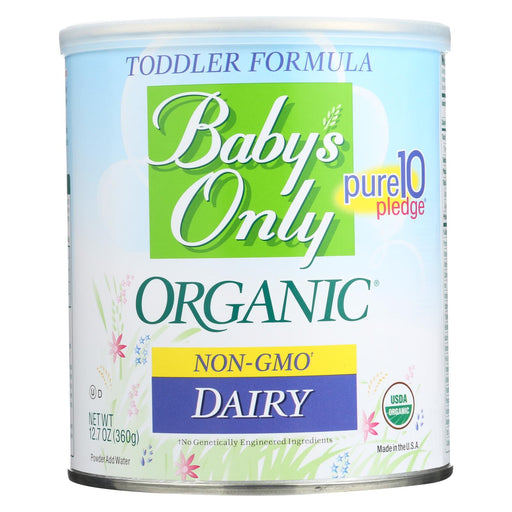 Baby's Only Organic Dairy Iron Fortified Toddler Formula - Case Of 6 - 12.7 Oz. - J. Rose Global