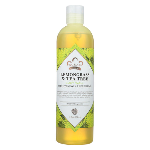 Nubian Heritage Body Wash Lemongrass And Tea Tree - 13 Fl Oz - J. Rose Global