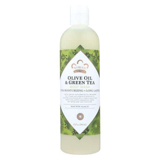 Nubian Heritage Body Wash Olive And Green Tea - 13 Fl Oz - J. Rose Global
